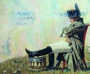 Napoleón en los altos de Borodino