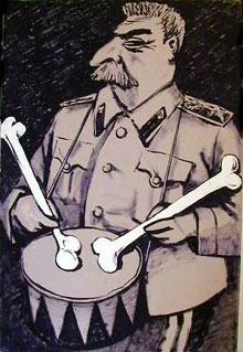 Stalin llamando a la colectivización