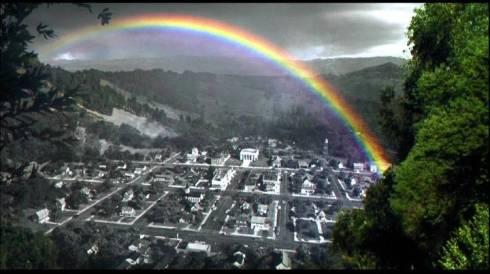 Un arco iris en el gris de Pleasantville