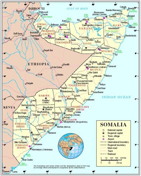 Somalia, el cuerno de África