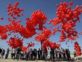 Más de 99 globos rojos