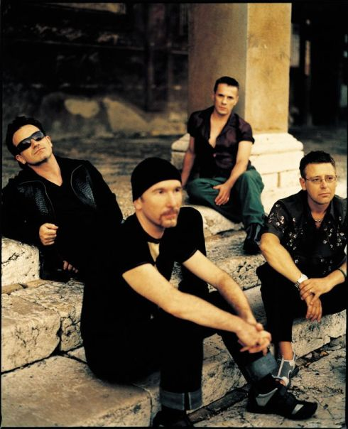 U2 (de izda. a dcha.) Bono, The Edge, Larry Mullen y Adam Clayton