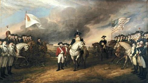 Capitulación de Cornwallis en Yorktown (John Turnbull, 1820)