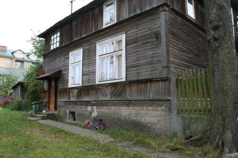 Una casa de madera en Bialystok