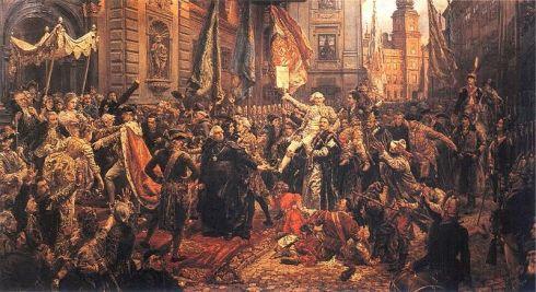 La proclamación de la Constitución de 3 de mayo de 1791, pintura de Jan Matejko