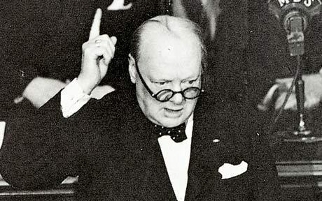 Winston Churchill en la Cámara de los Comunes, 13 de mayo de 1940