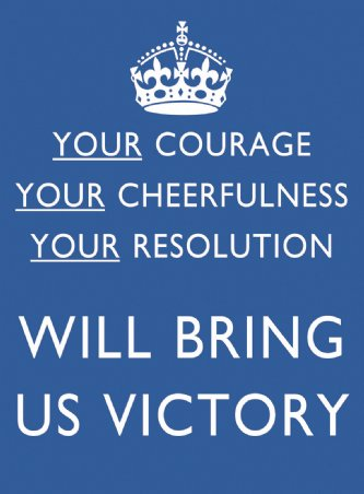 """Your courage, your cheerfulness, your determination, will bring us victory"""