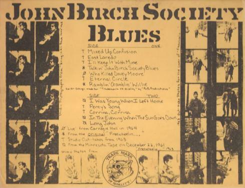 Afiche con la letra de la canción de Dylan