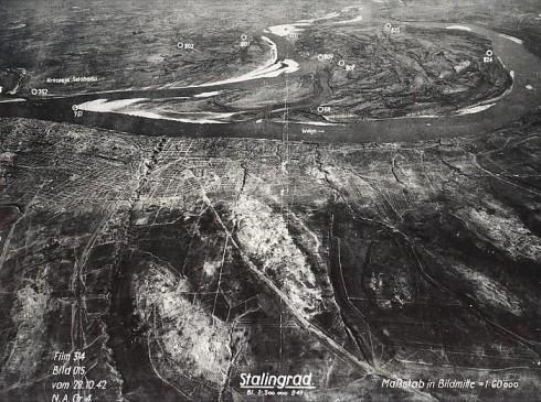 Vista aérea de Stalingrado, 28/10/1942