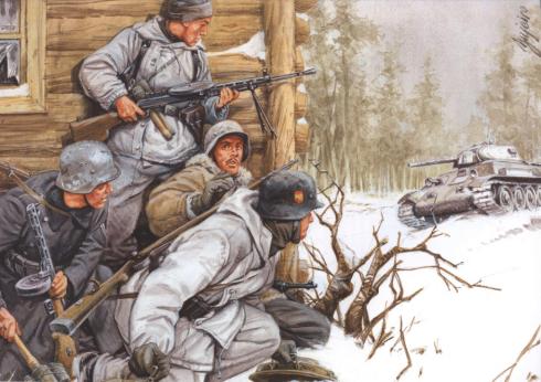 Una acción de los españoles en Krasny Bor